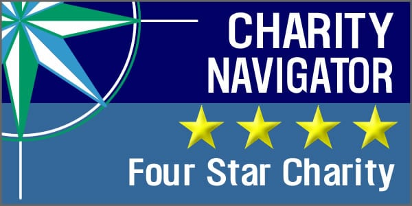 Charity Navigator 4 star charity (Rectangle)