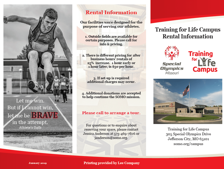 Training for Life Campus Brochure Jan. 2019