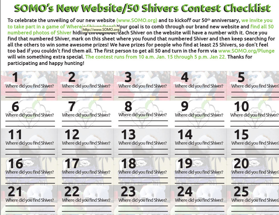 50 Shivers contest