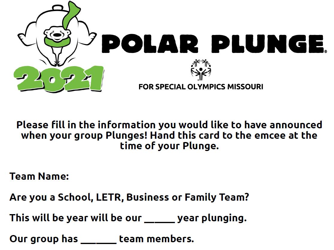 Plunge Emcee Card