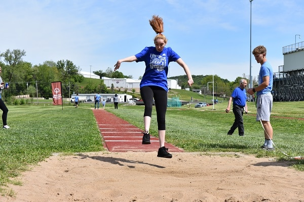 Sixteen-year-old Taylor Finch of Montgomery City competed her way to a gold medal at the Hermann Area Track and Field Competition.