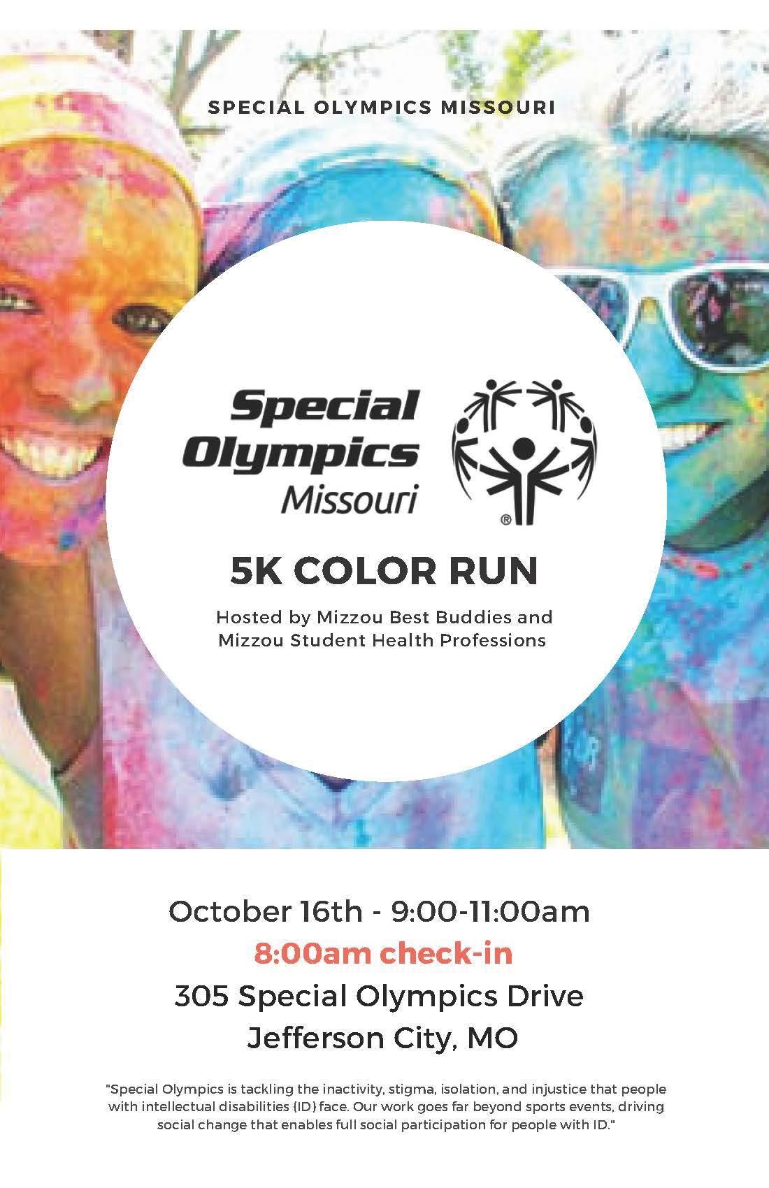 Special Olympics 5k Flyer