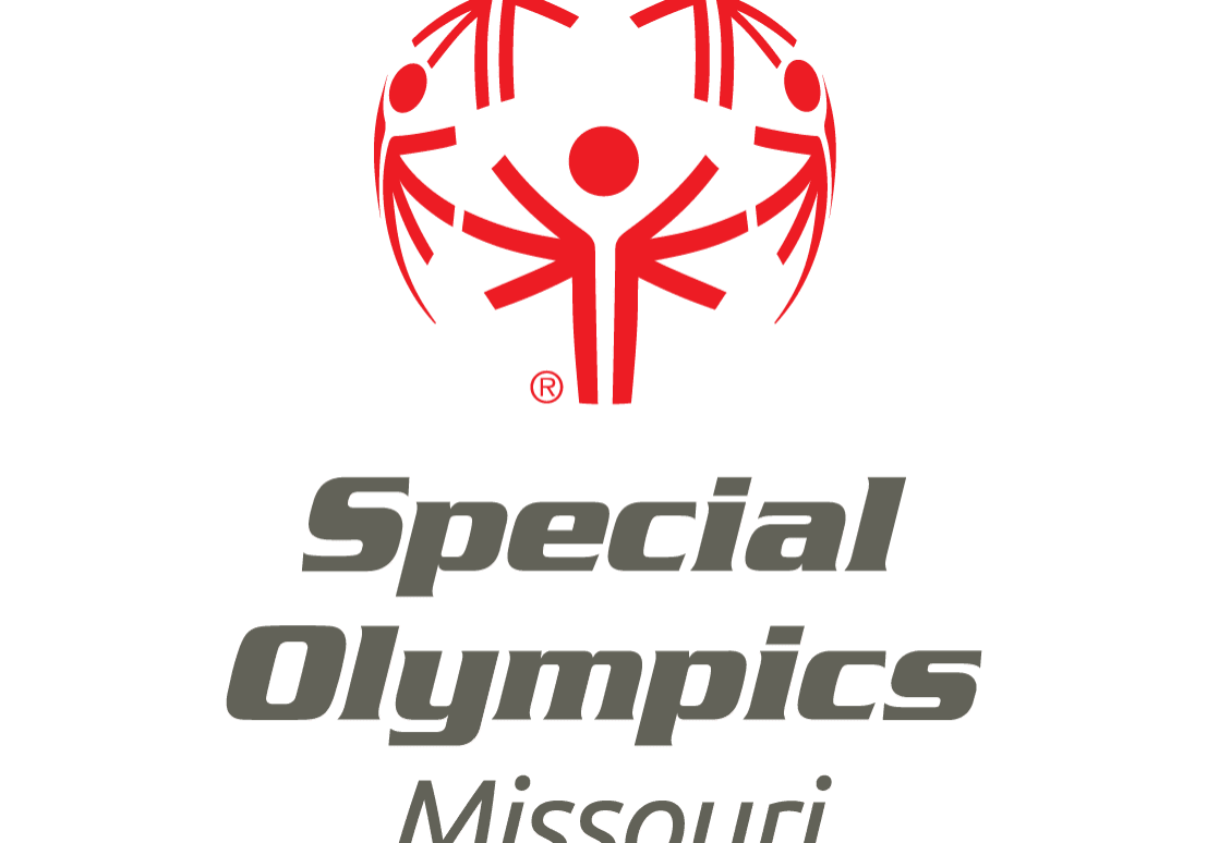 Special Olympics Missouri logo Red and Gray (Vertical)